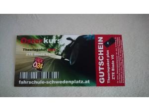 Gutschein Führerschein Theoriepaket (JEDE Klasse) - Wert: EUR 250, - (Fahrschule Schwedenplatz)