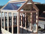 Tomatenhaus als Kleingewächshaus aus Lärchenholz Grundfläche 180 x 120 Firsthöhe 220cm